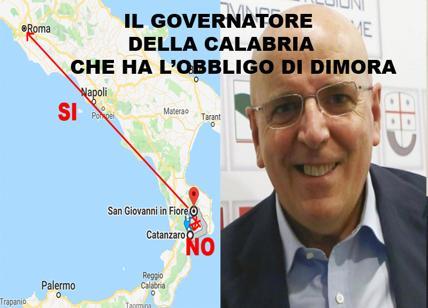 Governatore Calabria ha obbligo dimora. Non può andare in Regione ma a Roma sì