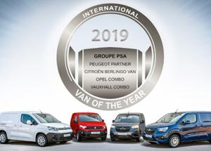 Groupe PSA si aggiudica il « International Van Of The Year 2019 »