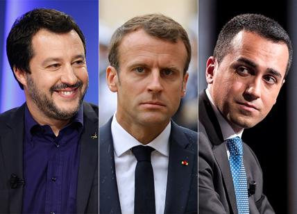 Risultati immagini per foto di Macron e di Salvini