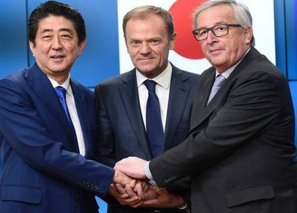 Firmato l'accordo di libero scambio fra Ue e Giappone