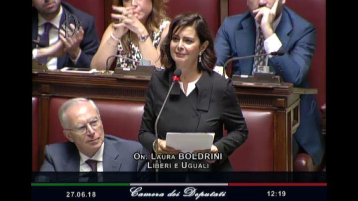 Discorso Camera Boldrini : Boldrini la camera dopo l elezione tra applausi a sinistra e pdl