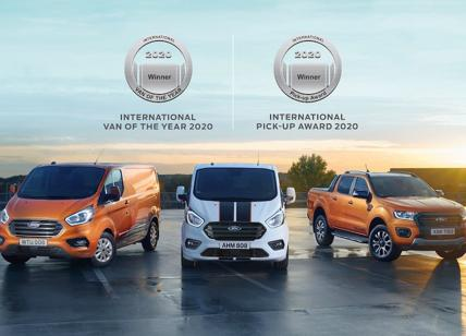 I commerciali Ford sono Van of The Year 2020 e Pick-Up of the Year 2020