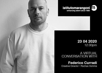 Istituto Marangoni, virtual conversation con lo stilista Federico Curradi