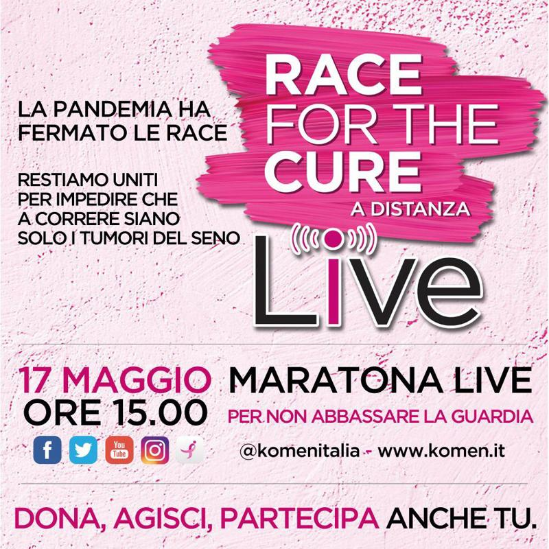 Locandina RACE for The CURE a distanza LIVE