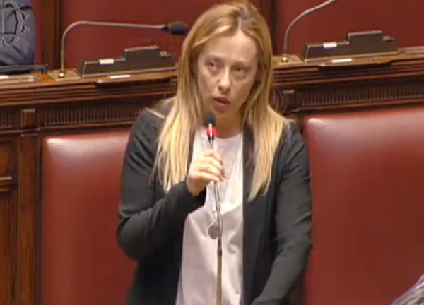 "Crisi governo/ Discorso integrale della Meloni. ""Mercimonio vergognoso"". VIDEO"