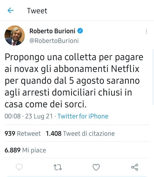 burioni twitter