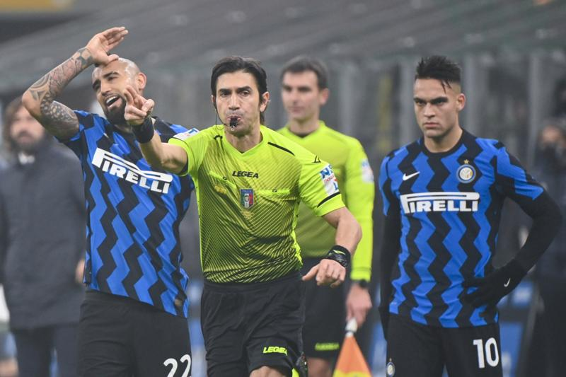 Calvarese Vidal Lautaro Martinez Inter Juventus