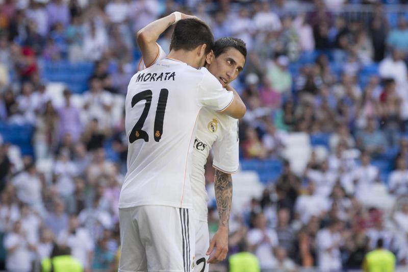 L'ex juventino Morata regala il 2-1 al 94° al Real Madrid sullo Sporting, poi svela un retroscena di mercato sul Napoli