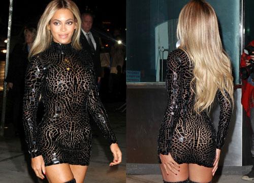 Tutto Il Trasparente Vestito Beyoncé Scandalosa Mostra nOwSSY