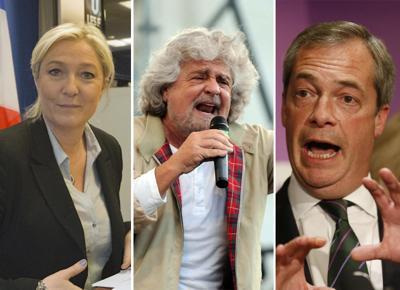 Farage e Le Pen, auguri a Lega e M5S